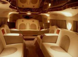 Interior of exclusive Hummer H1 limousine