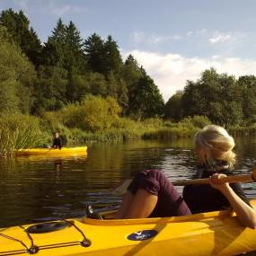 Peaceful part of canoeing on Pirita river